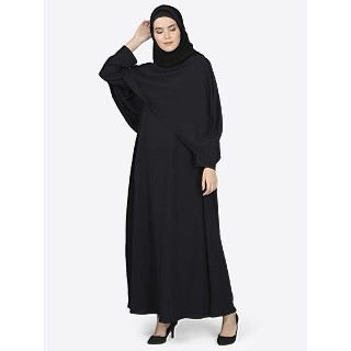 Designer Cape abaya- Black color