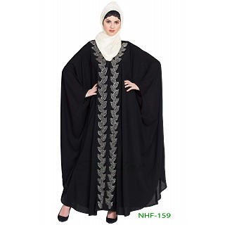 Party wear Kaftan abaya with hand work- Black