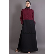 Dual colored Burka - A-line abaya