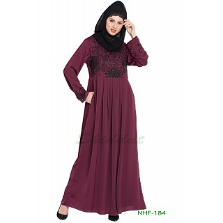 Hand embroidered party-wear abaya