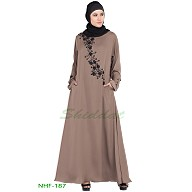 Party wear Umbrella abaya- Coffee Brown
