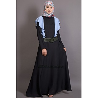 A-line casual abaya with frills
