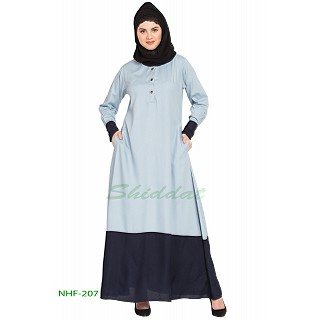 Dual colored casual abaya