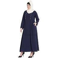 Casual abaya- Navy Blue