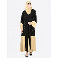 Double layered Dubai abaya