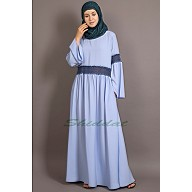 Classic abaya with Lace work - Sky  Blue
