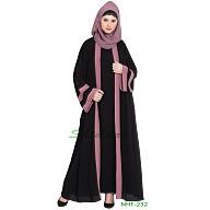 Double layered Dubai abaya