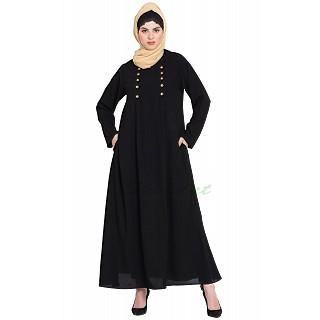 Black Casual abaya
