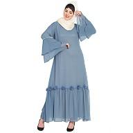 Party wear abaya- Petrol Blue