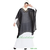 Double layer embellished party wear abaya