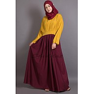 Dual colored pleated abaya