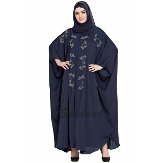 Designer Kaftan abaya with Handwork- Navy Blue