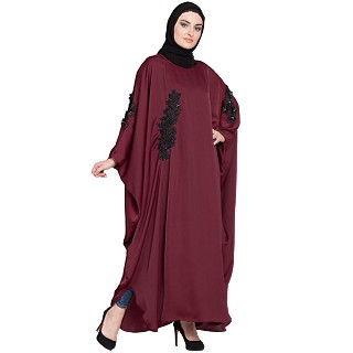 Premium Kaftan with patch work- Maroon