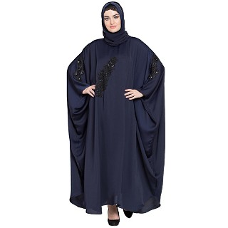 Premium Kaftan with patch work- Navy Blue