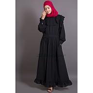 Black Bohemian abaya