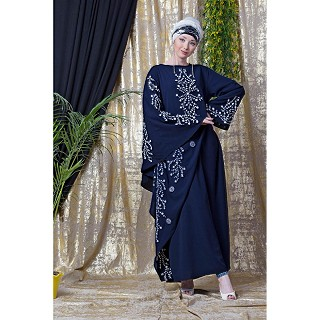 Embroidered abaya with Butterfly sleeves