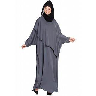 Kaftan style abaya- Grey