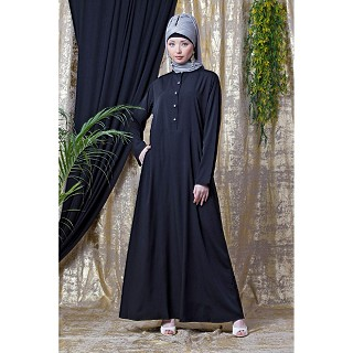 Black Casual wear abaya