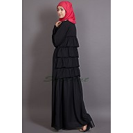 A-line abaya- Burka with back frills