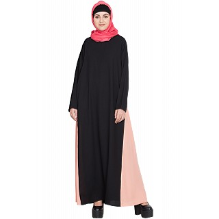 A-line abaya with Contrast side panels