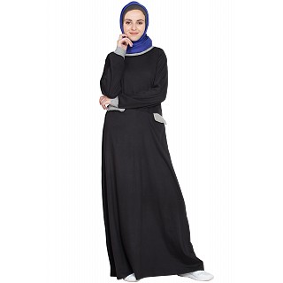 Slant cut at waist Travel Abaya