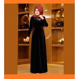 Burqa - Velvet with silver rhinestones