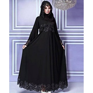 Burqa- Lace work party wear