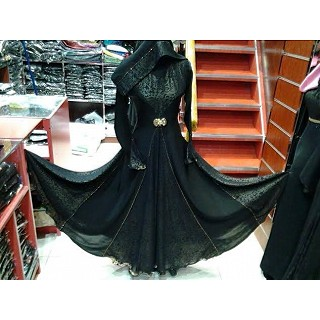 Burqa - Black with frills