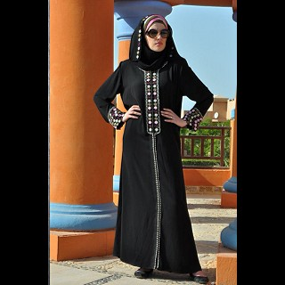 Metallic Beeds Designer Handworked Abaya