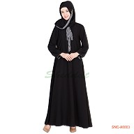 Naqab- Elegant Black Colored
