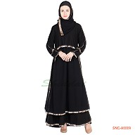 Naqab- elegant black colored frock style