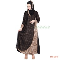 Abaya in shari design - crepe fabric