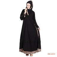 Burqa- simple A-line with printed border