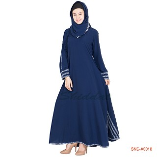 Abaya- blue colored turkish design