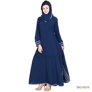 Abaya- blue colored turkish design