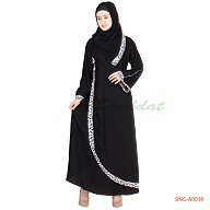Abaya- sari design in black color
