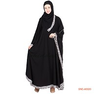 Kaftan- classic black colored in georgette fabric