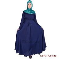 Full flared umbrella abaya - Monaco Blue