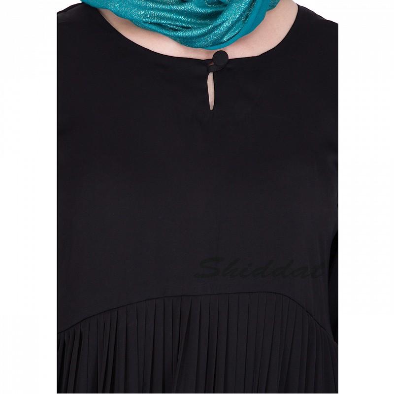 Pleated Abaya Online Buy Flared Designer Nidha Burqa