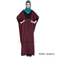 Pleated kaftan abaya - Nidha fabric