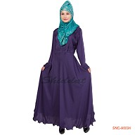 Pleated Nida Abaya - Dark Blue shade