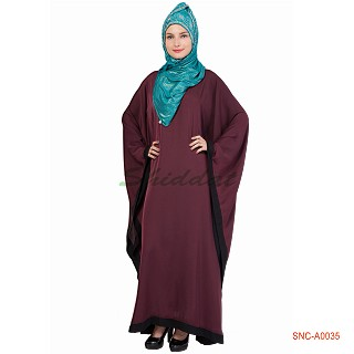 Classic Kaftan- Maroon Colored in Nida Fabric