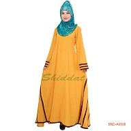 Yellow Colored Turkish Abaya