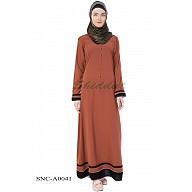 Casual abaya- Caramel Brown