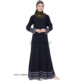 Simple Abaya- Navy Blue