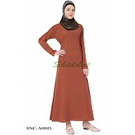 Simple Abaya- Light Brown