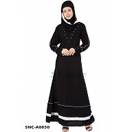 Causal Black Abaya - Kashiboo Fabric