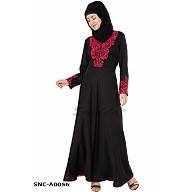 Designer Embroidered  Abaya- Black