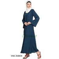 A-line abaya- Navy Blue