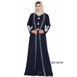 Kimono style abaya- Navy Blue